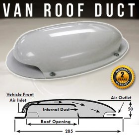 AVT Van Roof Vent Air Extractor Duct WHITE