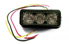 Amber 3 LED Grille or Side Light Module 12v / 24v