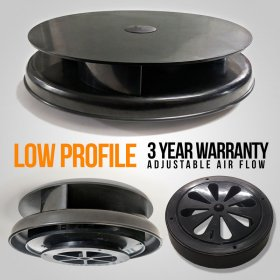 AVT Low Profile Rotating Van Roof Vent Air Extractor Ventilator BLACK