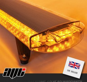 "AVT 1200mm 47"" LED 12v Amber Recovery Light Bar & Controller"