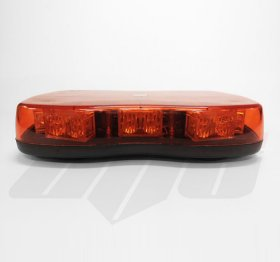 AVT1221A Amber Lens Single Bolt Mount Mini LED Lightbar - 12v / 24v