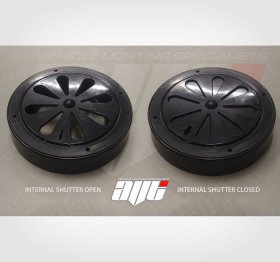 AVT Rotating Van Roof Air Vent BLACK