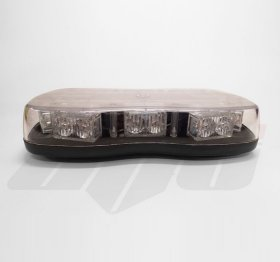 AVT1220 Magnetic Mount Mini LED Lightbar - 12v / 24v CLEAR LENS