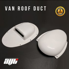AVT Van Roof Vent Air Extractor Duct WHITE With Internal Shutoff