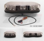 AVT1221A Clear Lens Single Bolt Mount Mini LED Lightbar - 12v / 24v