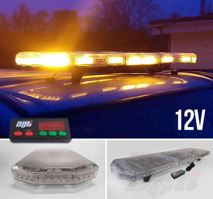 Avt 1200mm 48 Led 12v Amber Strobe Recovery Light Bar