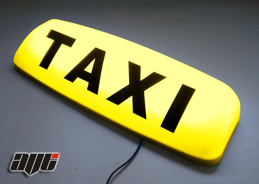 "24"" Illuminated 12v Taxi Roof Top Light YELLOW"