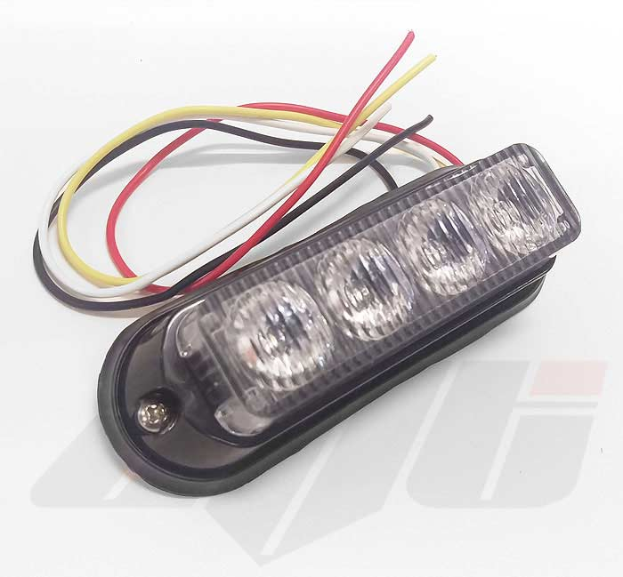 Amber 4 LED Grille or Side Light Module 12v / 24v