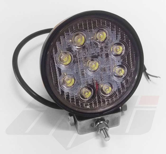 AVT Round LED WORKLAMP 9 LEDs - 12v / 24v - 30 Degree Angle